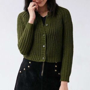 UNIF x Urban Outfitters olive Chloe cardigan